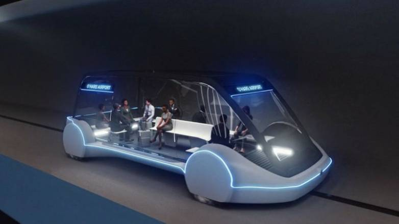 The Boring Company hyperloop through Chicago