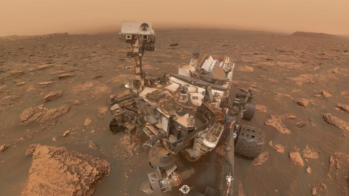 mars dust storm curiosity