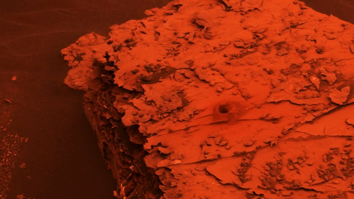 mars dust storm red