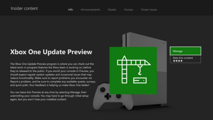 Xbox Insider: Skip ahead