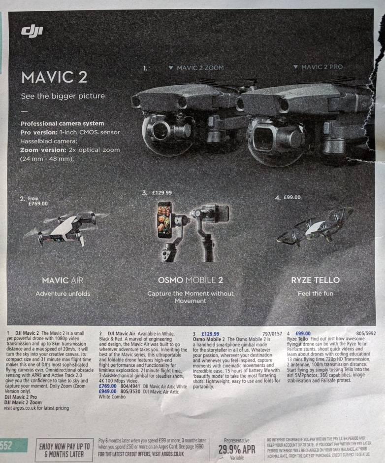 Leaked DJI Mavic 2