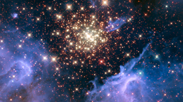 space fireworks