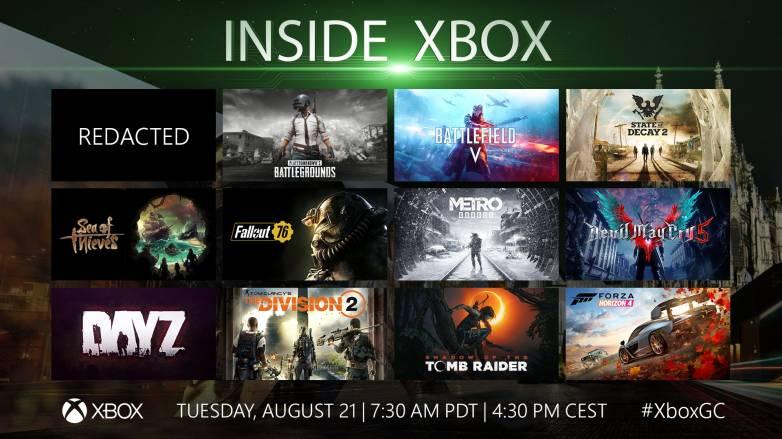 Xbox Gamescom 2018 live stream