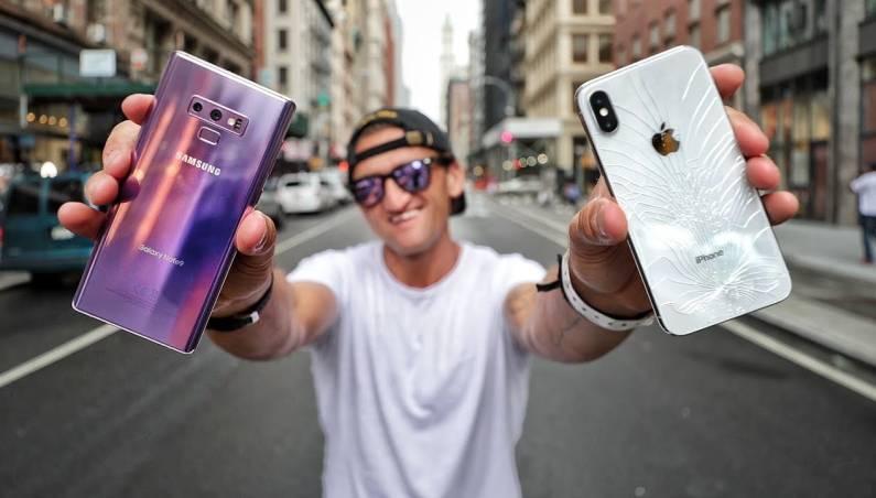 iPhone X vs Galaxy Note 9 camera comparison video