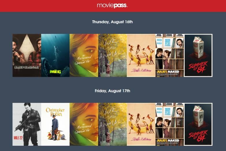 MoviePass new plan