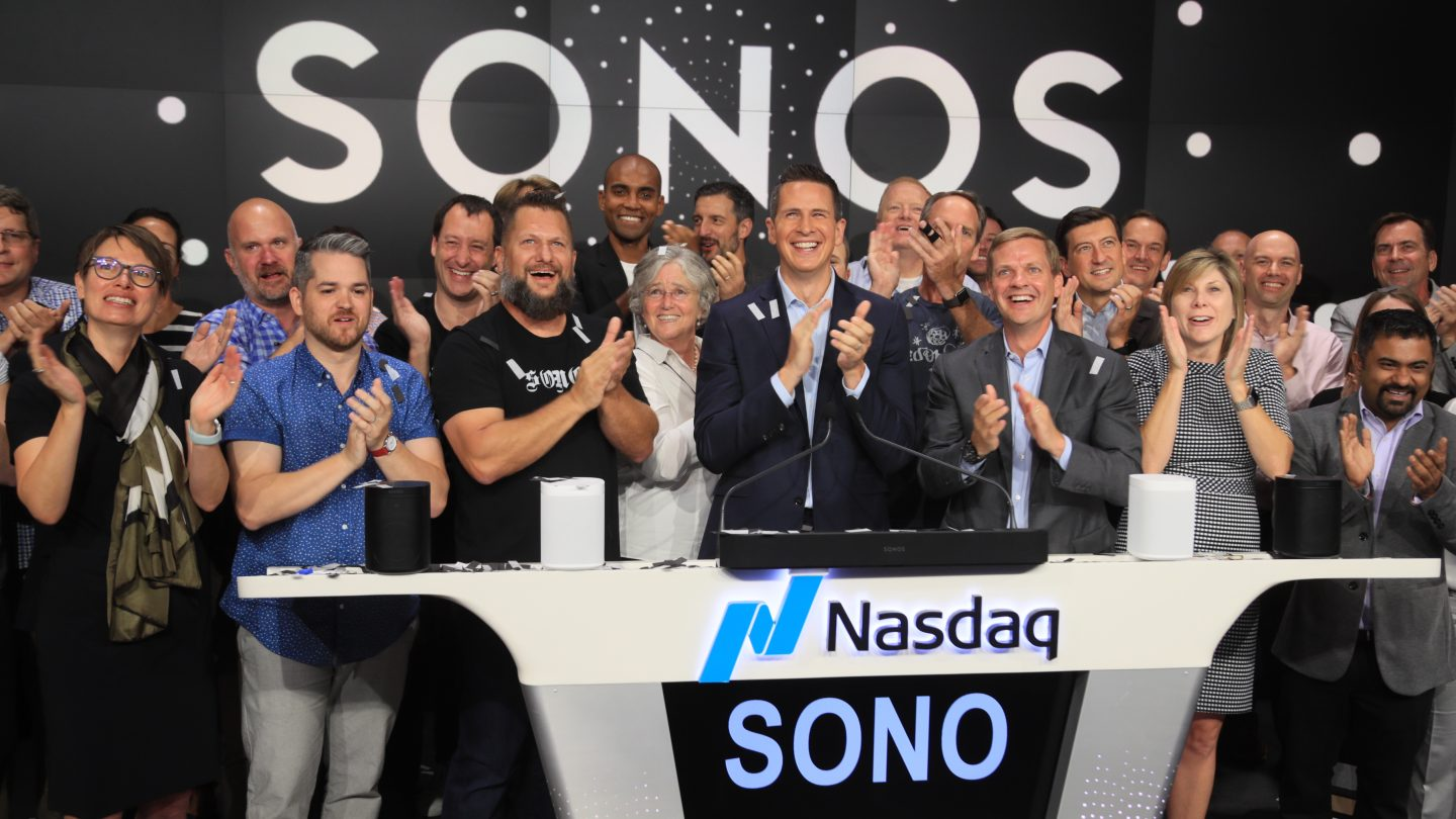 Sonos first day of trading