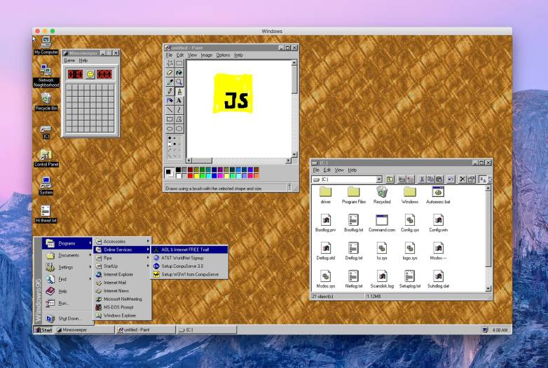 Windows 95 free app