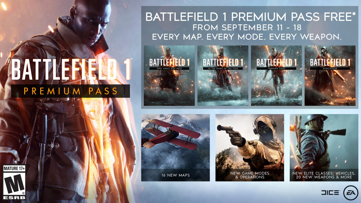 Battlefield 1 Premium Pass Is Free On Ps4 Xbox One And Pc For A Week