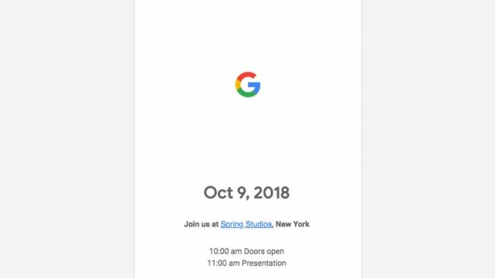 Google Pixel 3 XL event, release date