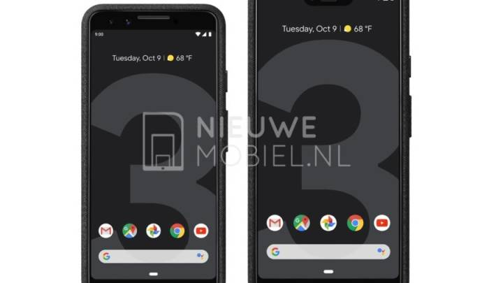 Google Pixel 3, Pixel 3 XL renders