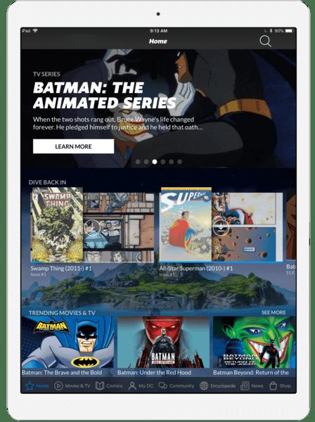 DC Comics streaming service