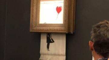 Banksy shredded painting stunt