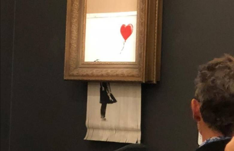 Banksy shredded painting stunt