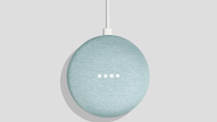 Google Home Mini aqua color