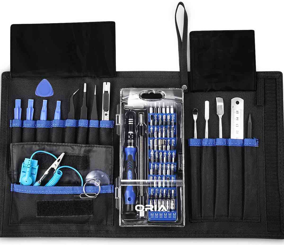 Silver Color : Silver DUANDETAO JF-6035 32 in 1 Professional Multi-Functional Screwdriver Set with Bag