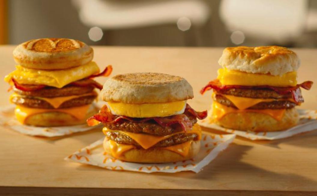 mcdonalds breakfast triple stacks