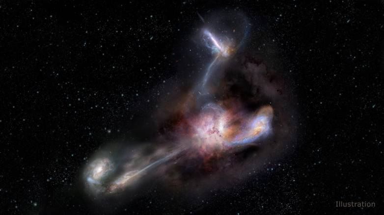 galaxy eating galaxies