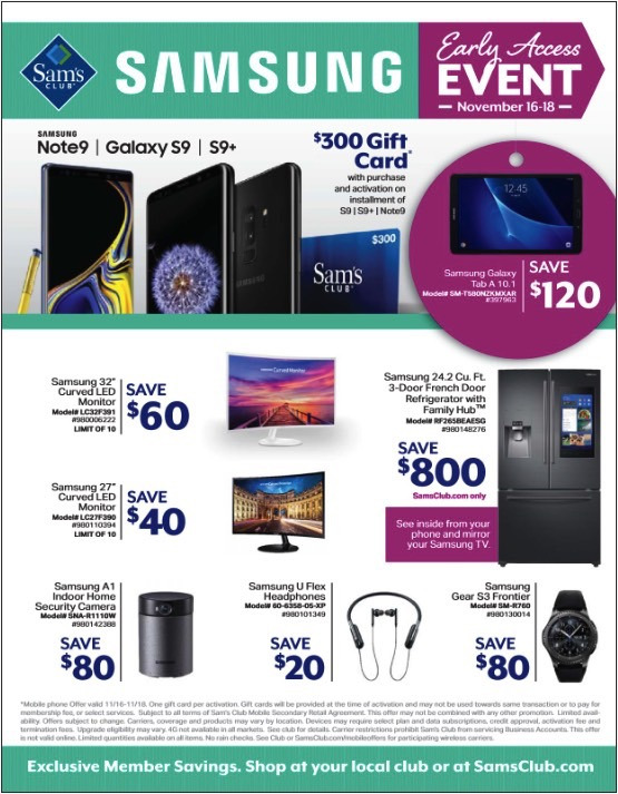 Cheap Galaxy Note 9 And S9 And Tv Deals Await In Sam S Club S Early Black Friday Sale Bgr