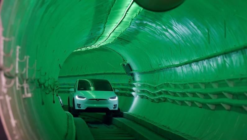 Boring Company Tunnel Ride