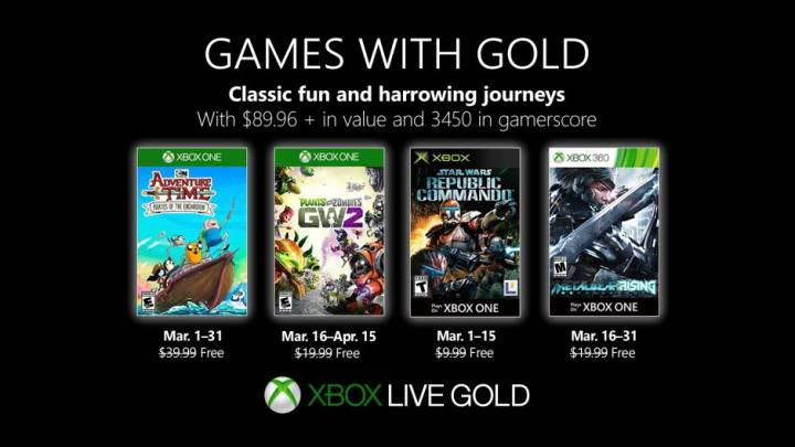 Xbox One Games with Gold