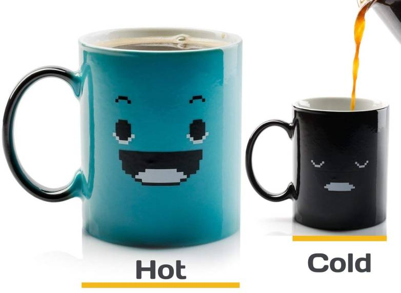 Heat Sensitive Coffee Mug
