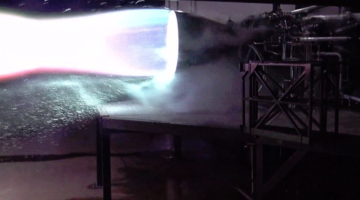 starship engine firing