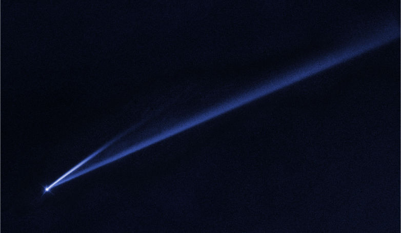spinning asteroid