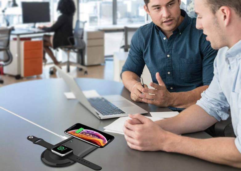 Dual Wireless Charger For iPhone And Apple Watch
