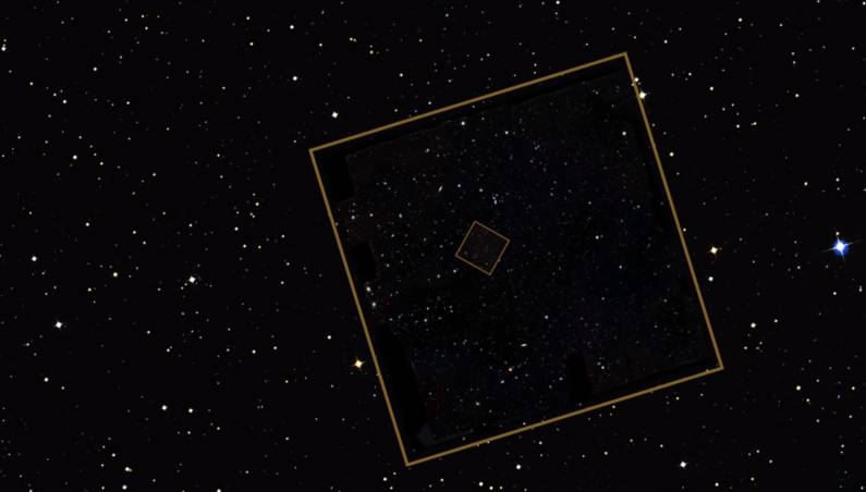 hubble zoom-out