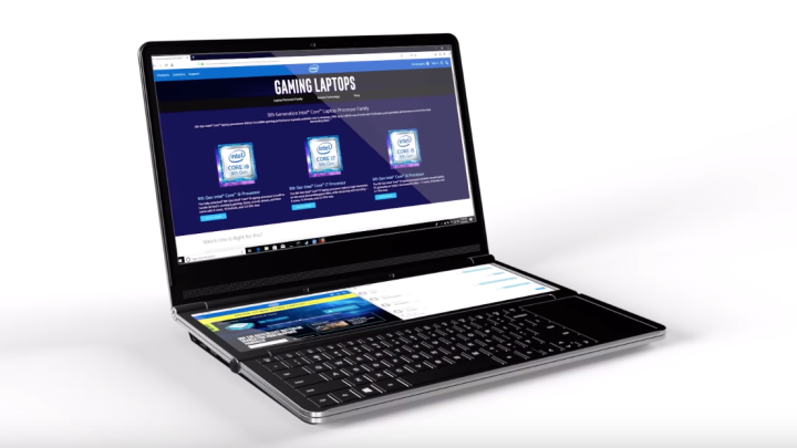 Intel Dual-Screen Laptop