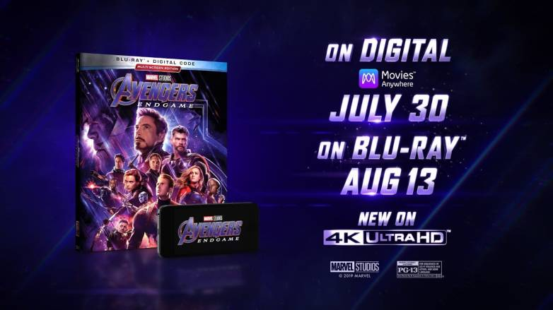 Avengers: Endgame Blu-ray, digital