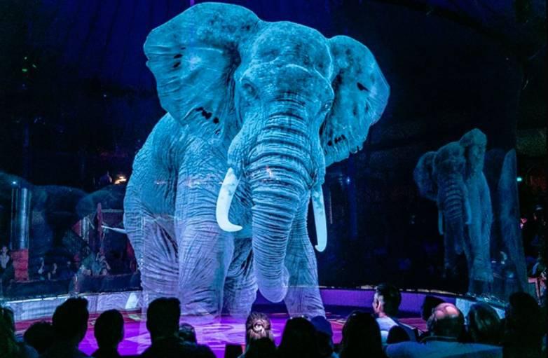 hologram circus