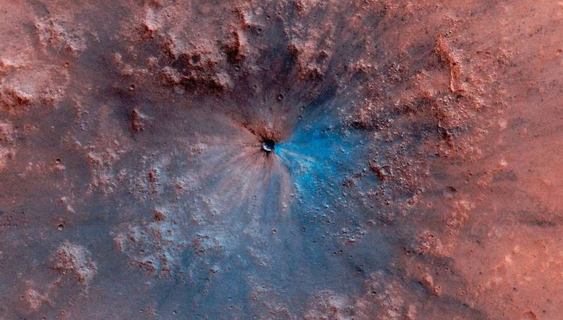 new mars crater