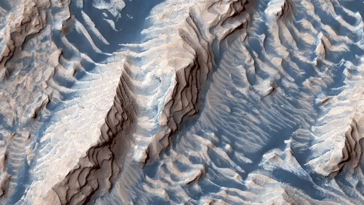 mars blue sand