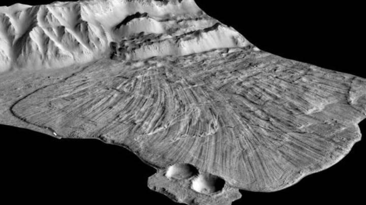 mars landslides