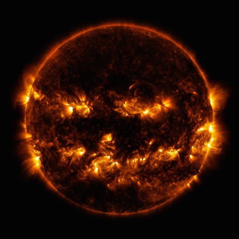 sun jack o lantern