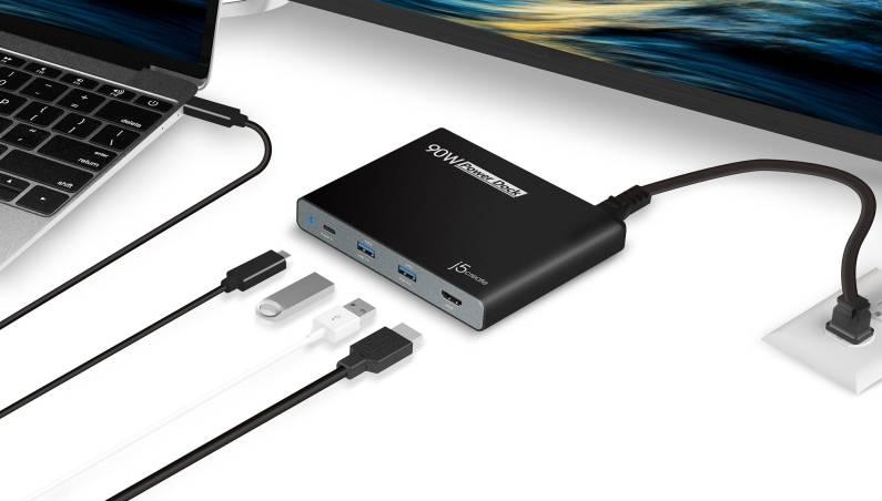 90W Built-in USB-C™ Travel Dock (JCDP392)