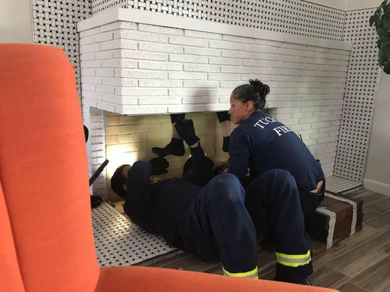 stuck in chimney