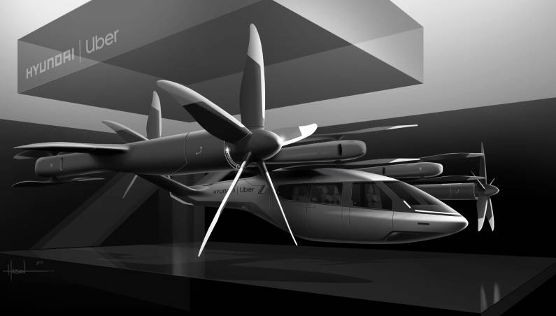 uber hyundai flying taxi