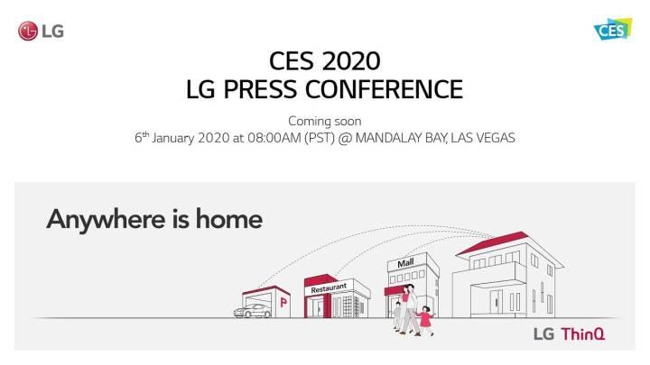 LG CES 2020 live stream