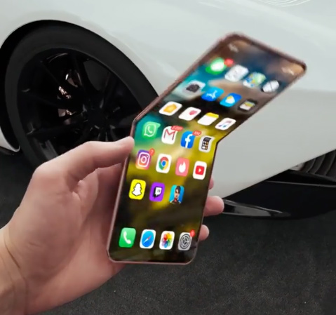 I Can T Stop Staring At This Video Of A Foldable Iphone 12 Flip Bgr