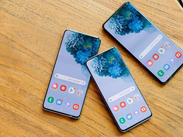 Galaxy S20 screens