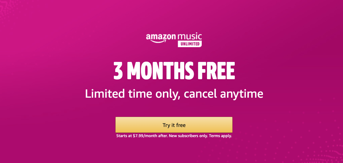 Get 3 Months of Amazon Music Unlimited For Free