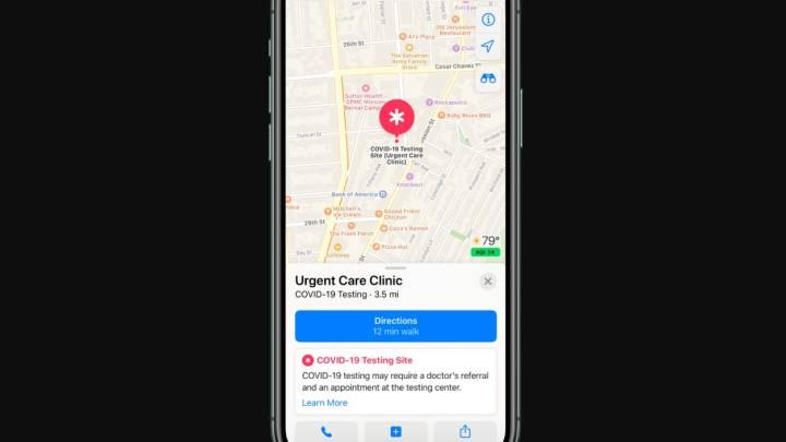 Apple Maps: Coronavirus