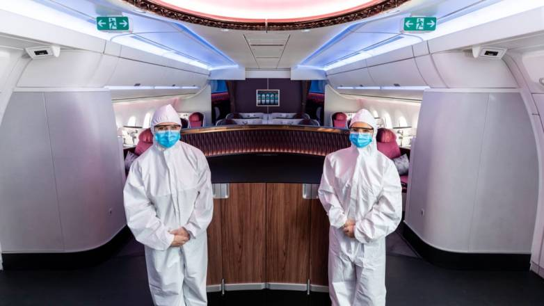Flight attendants wearing hazmat suits is the new normal during the  coronavirus pandemic – BGR