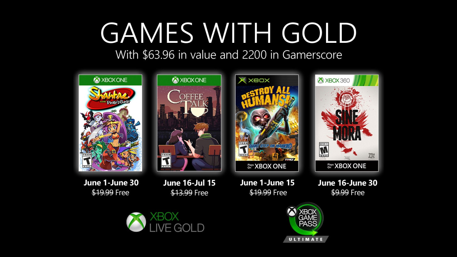 Every Free Xbox One And Xbox 360 Game You Can Get In June Bgr