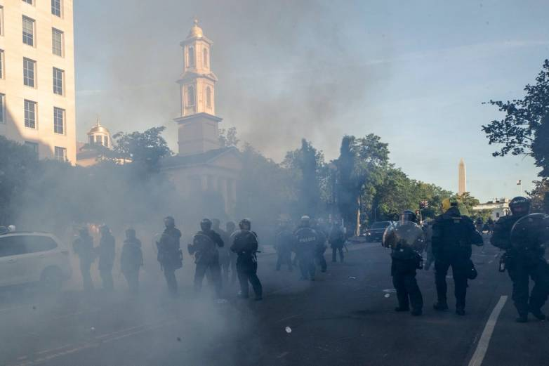Tear Gas Used on Protesters