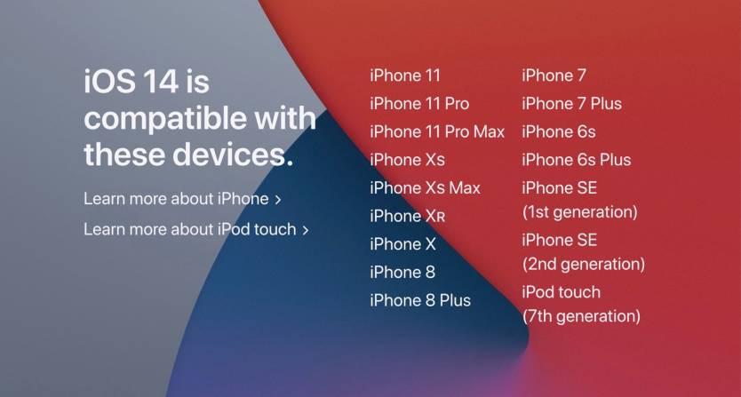 iOS 14 Compatibility List