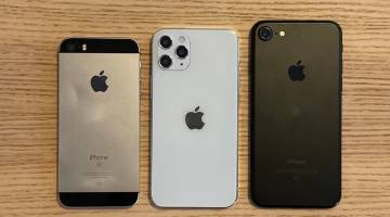 iPhone 12 size comparison