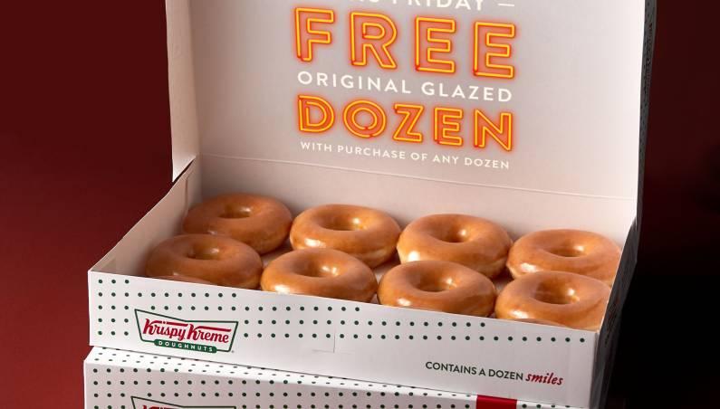 Free dozen donuts